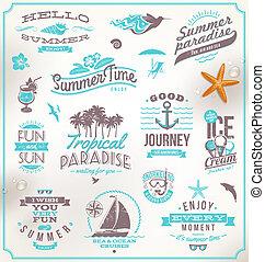 voyage, ensemble, vacances, emblèmes