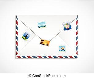 voyage, enveloppe