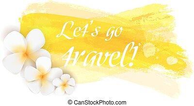 voyage, fleurs, fond