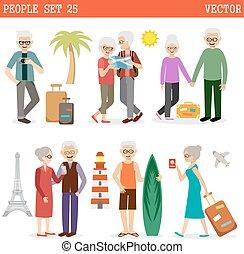 voyage, gens âgés