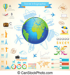 voyage, infographic, diagramme
