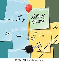 voyage, lets, concept., aller, tourisme