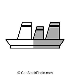 voyage, ligne, maritime, bateau croisière, ombre
