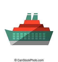voyage, maritime, océan, croisière, ombre, bateau