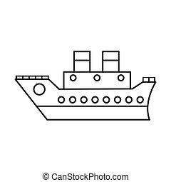 voyage, mince, mer, croisière, ligne, bateau