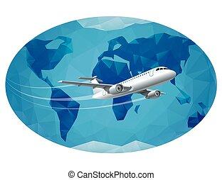 voyage mondial, autour de, air