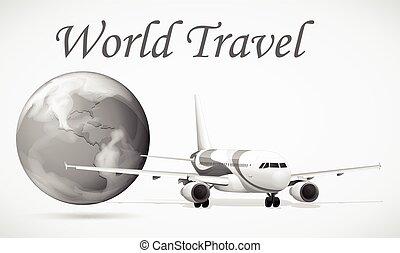 voyage mondial, avion