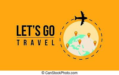 voyage mondial, concept