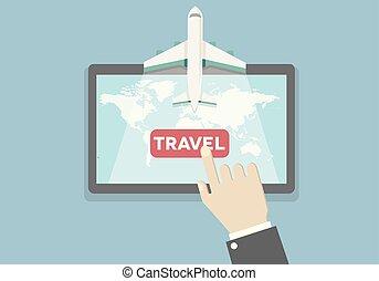 voyage mondial, vol