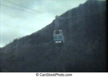 voyage, montagne, (1975, vintage), haut