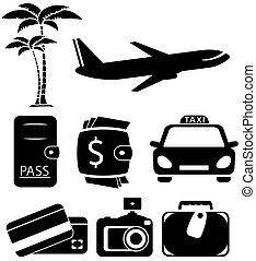 voyage, objets, isolé