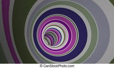 voyage, par, raies, tunnel, coloré