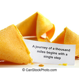 voyage, petit gâteau fortune, proverbe