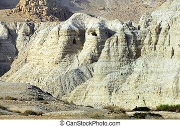 voyage, photos, de, israël, -, qumran, cavernes