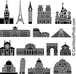 voyage, repères, icônes