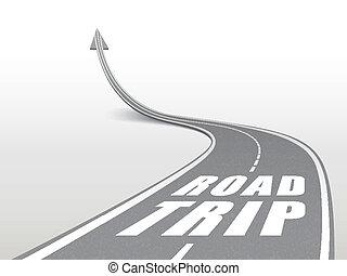 voyage route, mots, autoroute