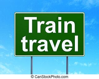 voyage, signe,  train,  concept:, fond, route
