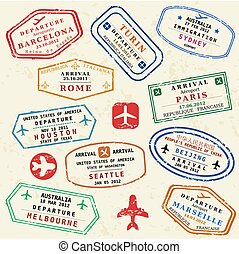voyage, timbres