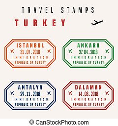 voyage, timbres, turquie