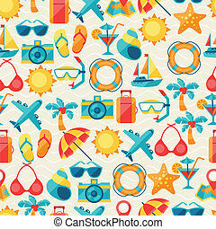 voyage tourisme, seamless, pattern.