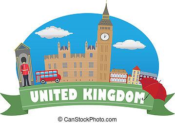 voyage, uni, tourisme, kingdom.
