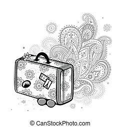 voyage, valise