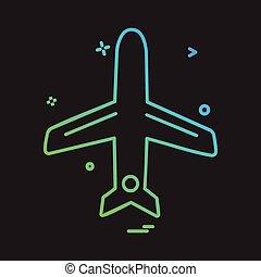 voyage, vecteur, conception, icône