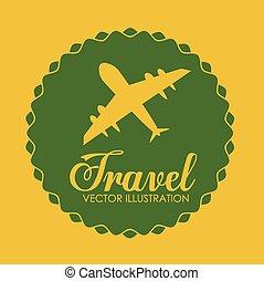 voyage, vecteur, conception, illustration.
