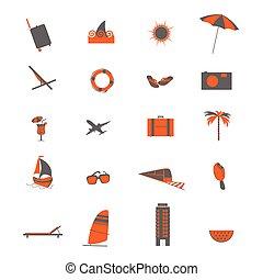 voyage, vecteur, illustration, icône