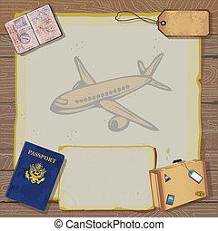 voyage, vendange, inv, rustique, bon, fête