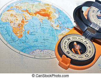 voyage, world., autour de