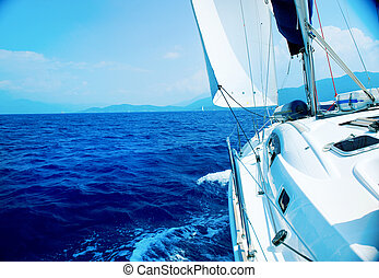 voyage,  yacht, luxe, voile