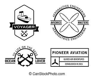 Voyager badge label