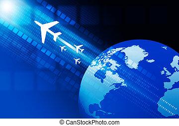 voyager, global, concept., render, 3d