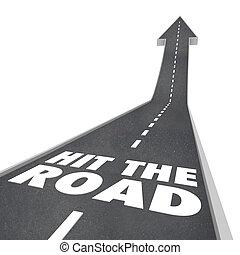 voyager, partir, route, transport, succès, début, voyage