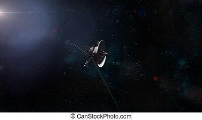 Voyager Probe Flyby