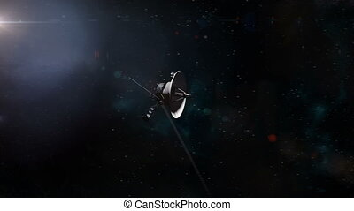 Voyager Probe Leaving Earth
