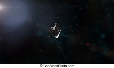 Voyager Probe Leaving Saturn