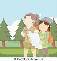 voyageur, explorateur, femme
