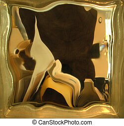 voyeur daliesque - office seen through a distorting glass...