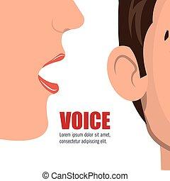 voz, concepto, diseño