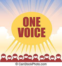 voz, uno