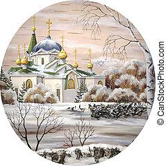 voznesensky, cercle, cathédrale