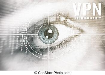 vpn, technologie, concept