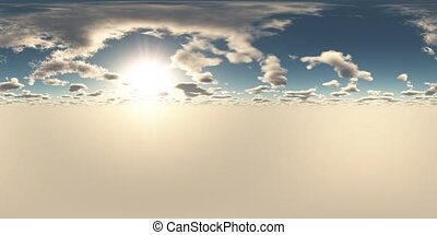 VR 360 degree Panoramic Sky and Clouds. ready for use in 3D ...