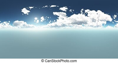 VR 360 degree Panoramic Sky and Clouds. ready for use in 3D...