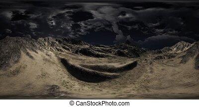 VR 360 Huge Dark Clouds over Scottish Highlands - huge dark ...