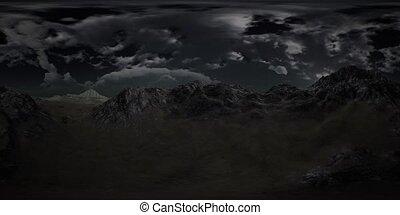 VR 360 Huge Dark Clouds over Scottish Highlands - huge dark...