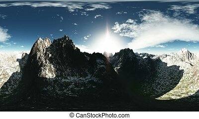vr 360 panorama of mountains
