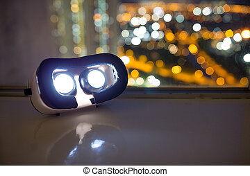 VR device at night